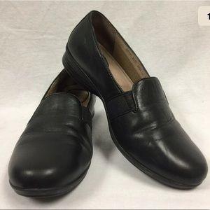 Women's Dansko Addy Black Leather Loafers 41 or 11